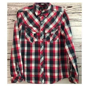 Marc Ecko Plaid Longsleeve Button Down Shirt